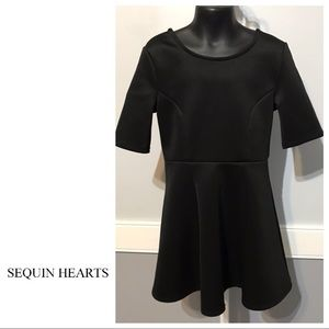 Sequin Hearts skater dress